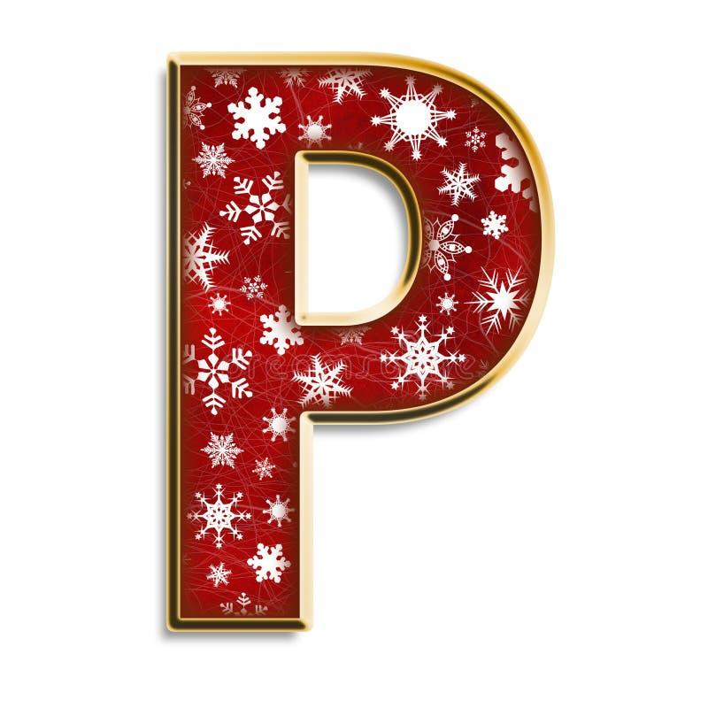 圣诞节查出的信函p红色 库存例证