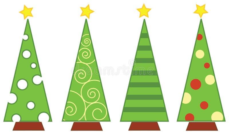 圣诞节查出的结构树 库存例证