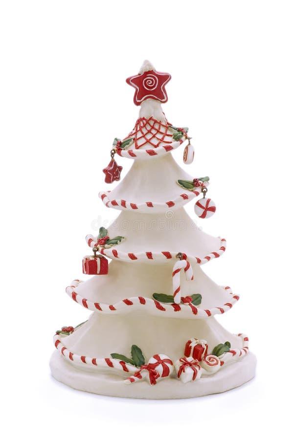 圣诞节查出的风格化结构树白色 库存图片