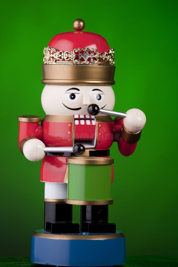 圣诞节查出的鼓手绿色 免版税库存照片