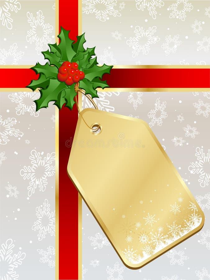 圣诞节标签 皇族释放例证