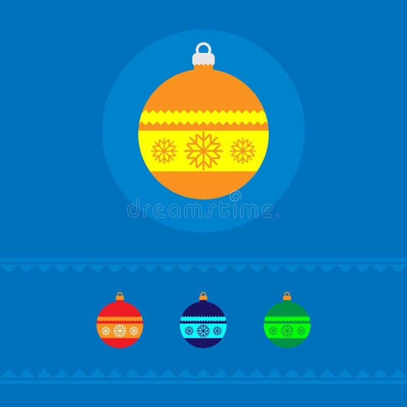 圣诞节树做了玩具圆形 向量 一个假日的概念 向量例证