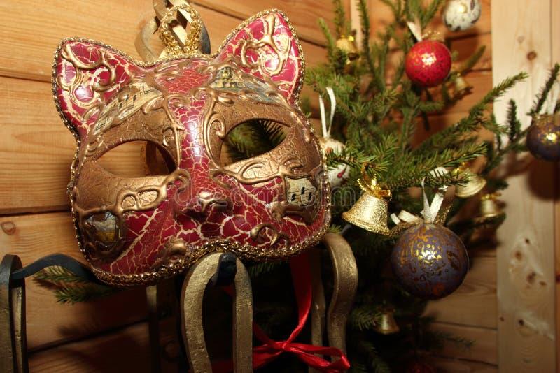 圣诞节树构成花束与玩具的 免版税图库摄影