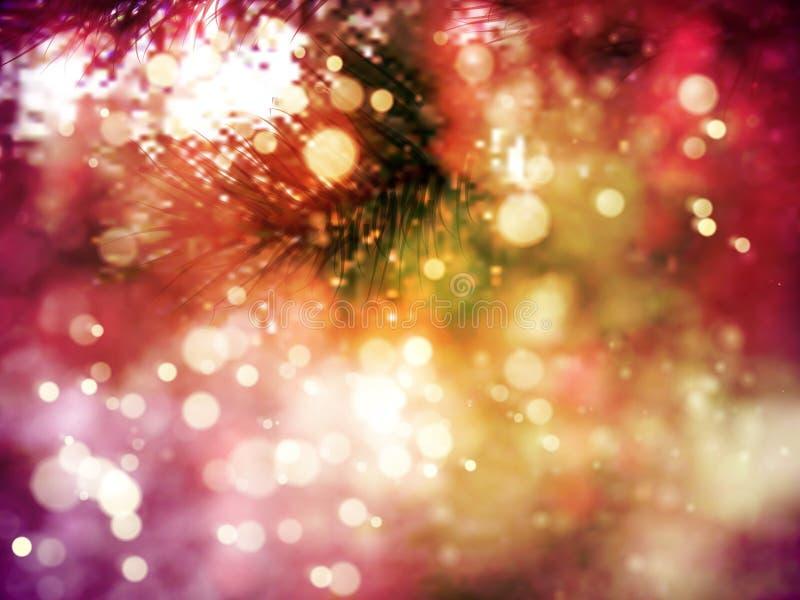 圣诞节树背景特写镜头  库存例证