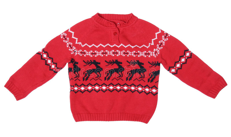圣诞节样式毛线衣 免版税图库摄影