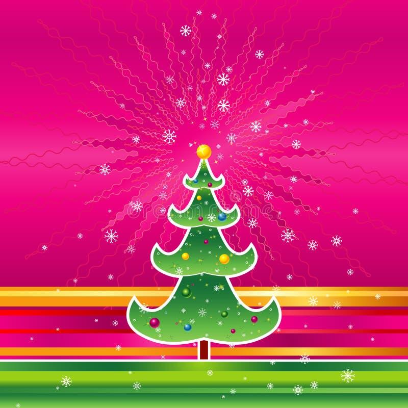圣诞节桃红色向量 库存例证