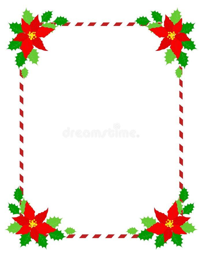 圣诞节框架一品红 皇族释放例证