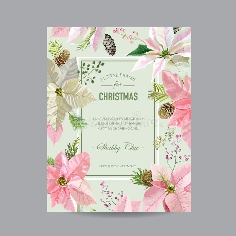 圣诞节框架或卡片 向量例证