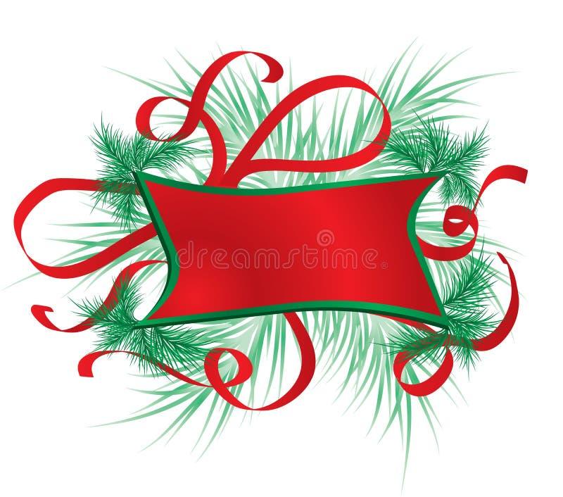 圣诞节框架毛皮结构树向量 库存例证