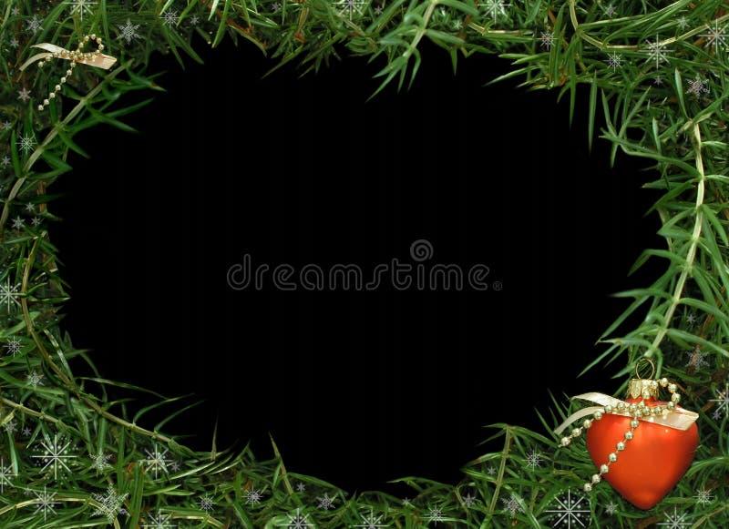 圣诞节框架照片录影 免版税库存照片