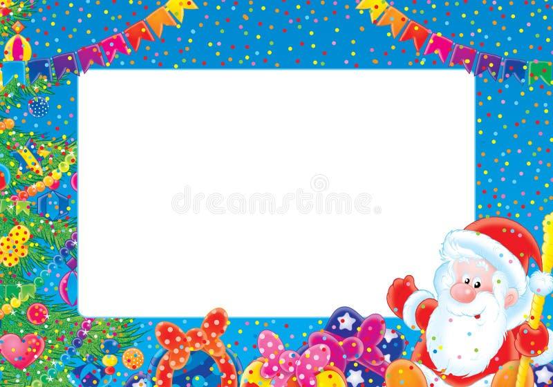 圣诞节框架照片 皇族释放例证