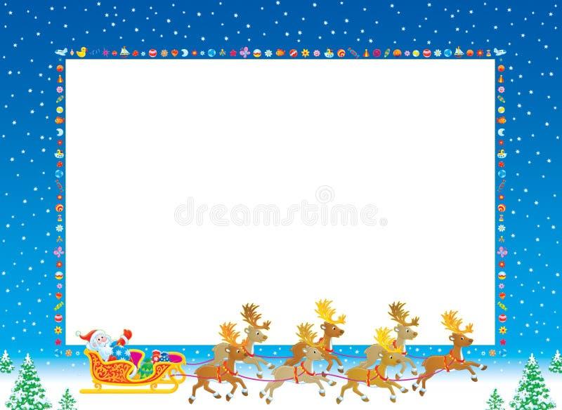 圣诞节框架照片 库存例证