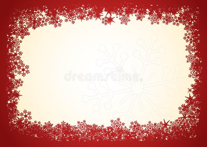 圣诞节框架红色 皇族释放例证