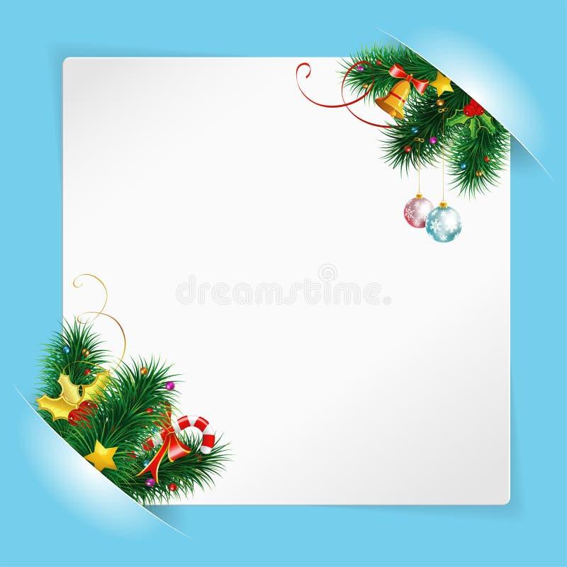 Download 圣诞节框架纸张页白色 向量例证. 插画 包括有 图象, 响铃, 文件, 问候, 空白的, 例证, 图画, 角落 - 22359101