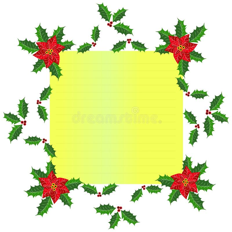 圣诞节框架设计 免版税库存照片