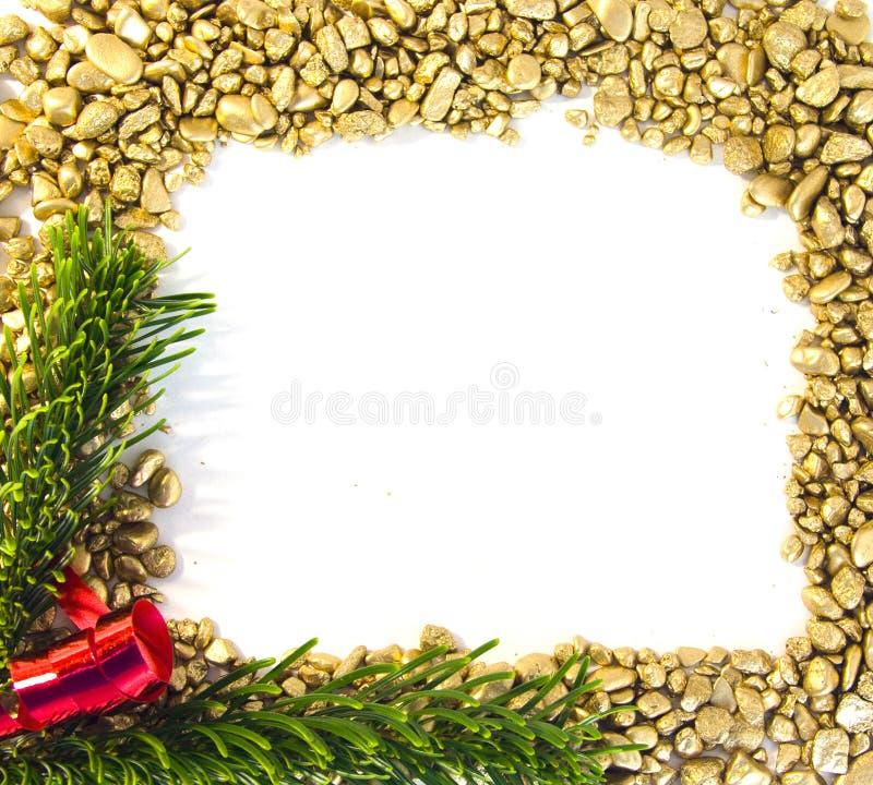 圣诞节框架金子 免版税图库摄影