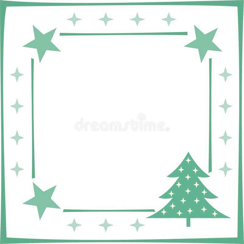 圣诞节框架 库存例证