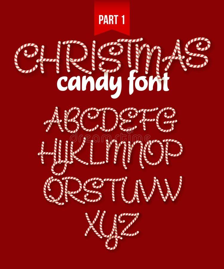 圣诞节棒棒糖字母表 也corel凹道例证向量 库存例证