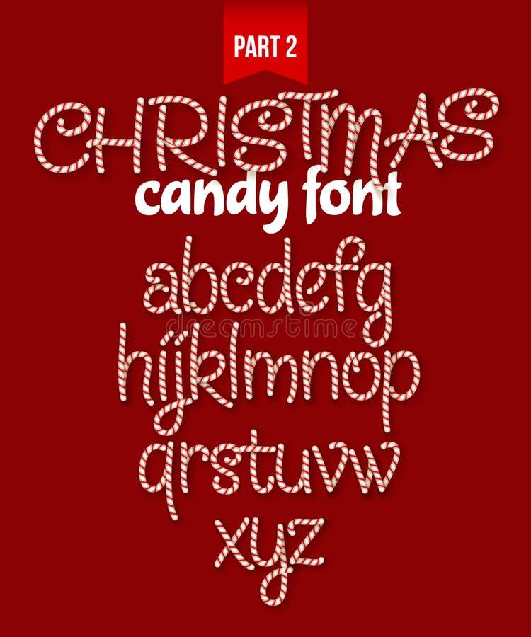 圣诞节棒棒糖字母表 也corel凹道例证向量 向量例证