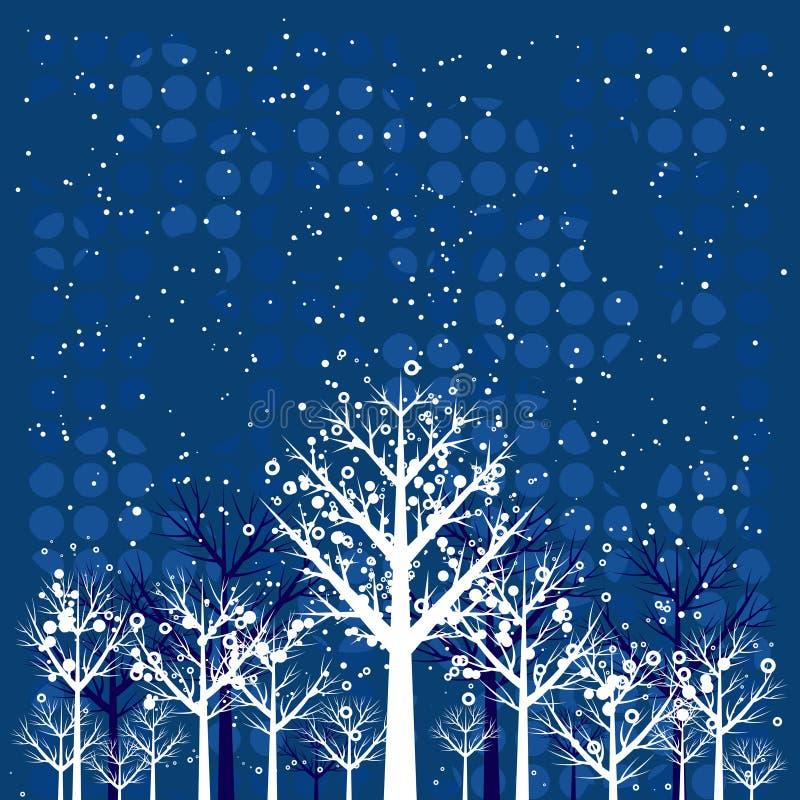 圣诞节森林向量 皇族释放例证