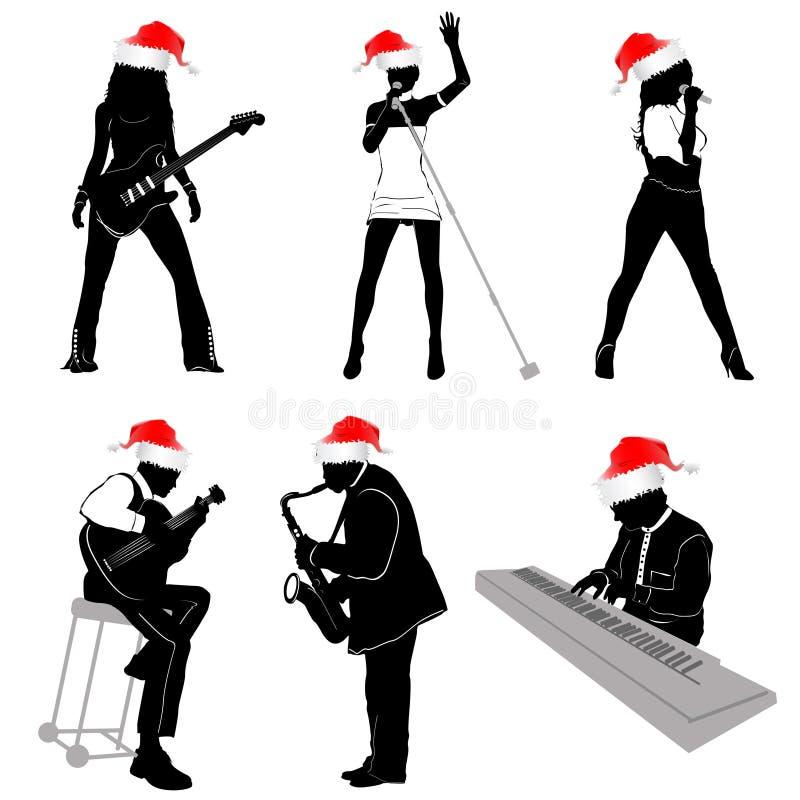 圣诞节概念音乐 皇族释放例证