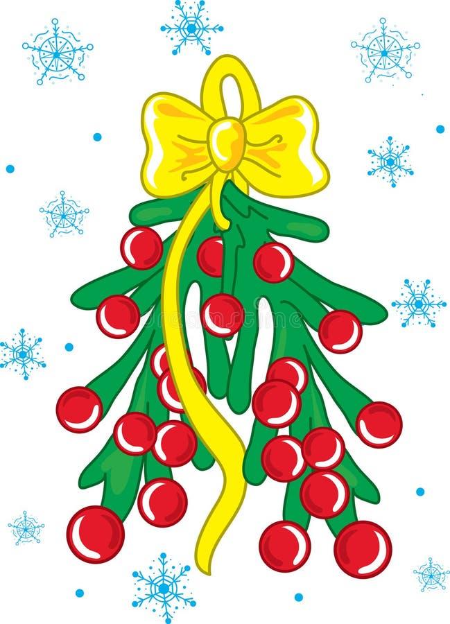 圣诞节槲寄生 免版税库存照片