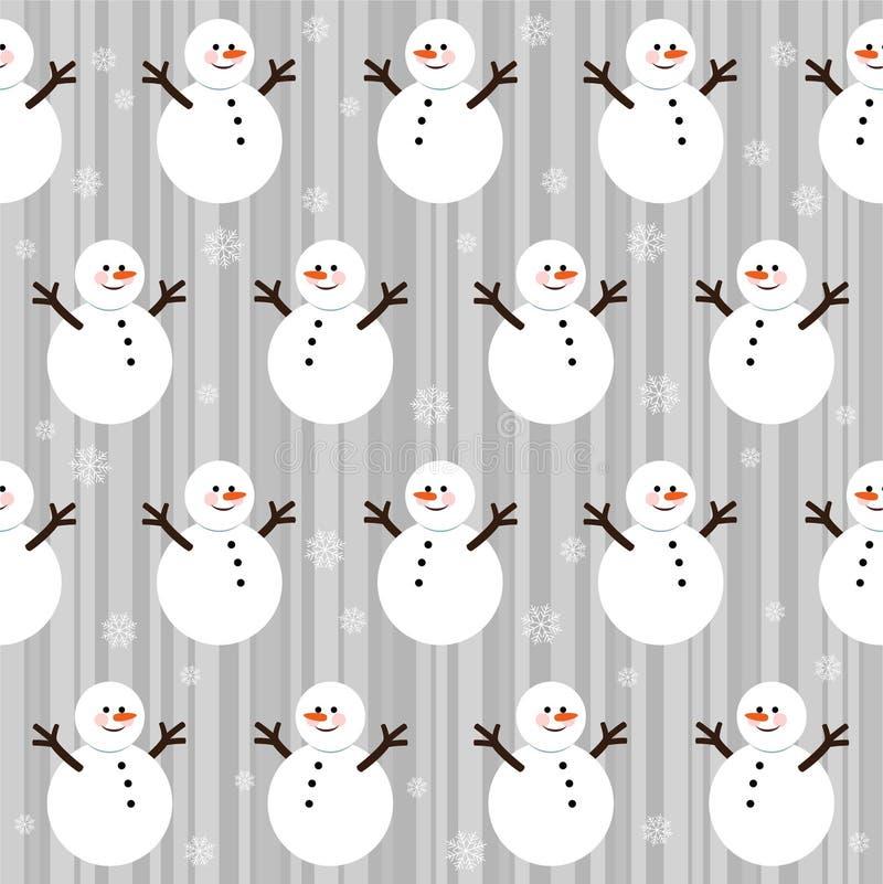 圣诞节模式无缝的冬天 皇族释放例证