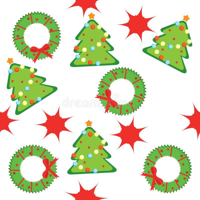 圣诞节模式无缝的结构树 皇族释放例证