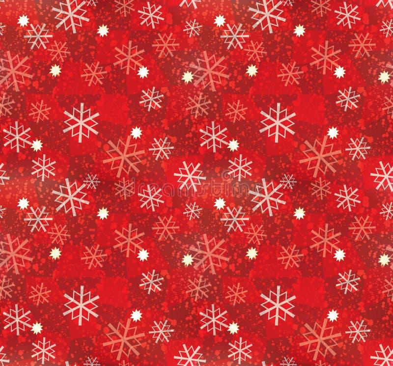 圣诞节模式无缝的雪花 向量例证
