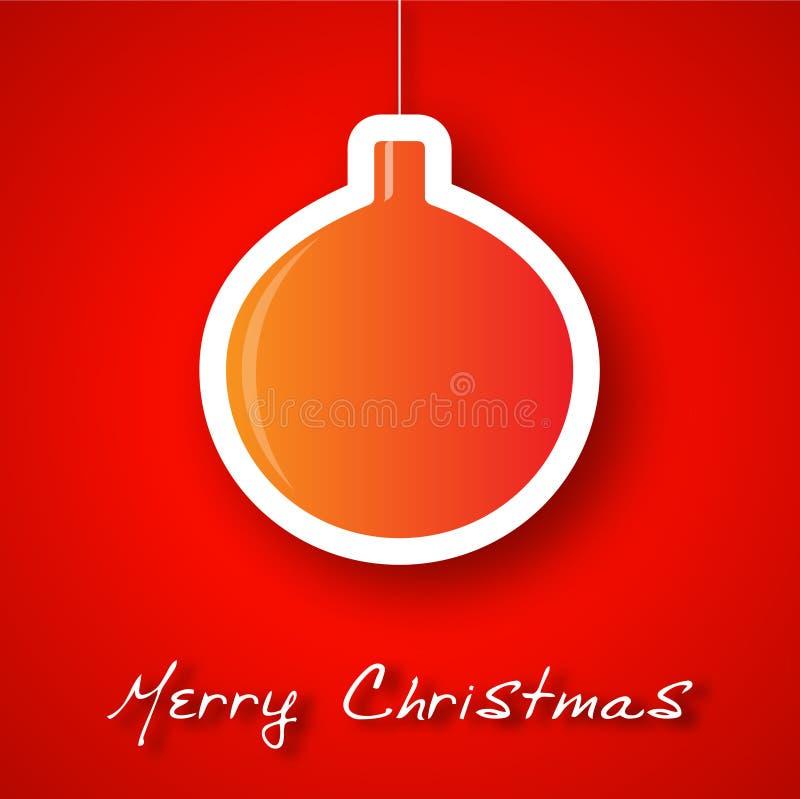 圣诞节橙色球补花背景 皇族释放例证