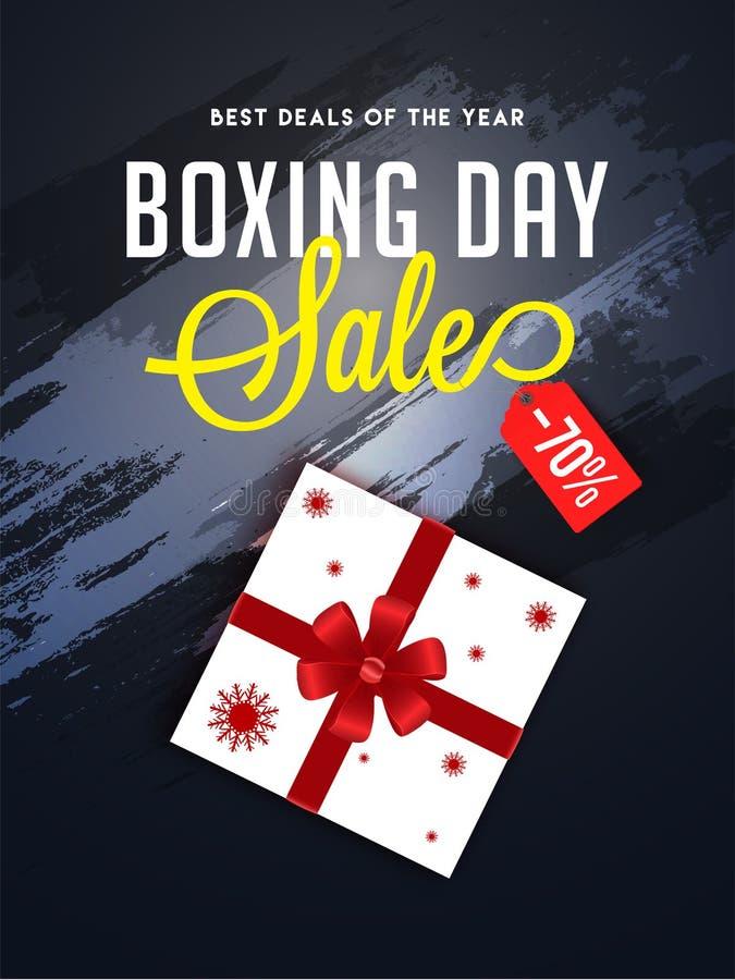 圣诞节次日销售横幅或海报设计,70%折扣提议与 库存例证