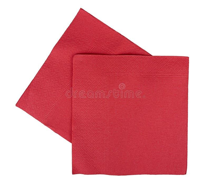 圣诞节欢乐查出的餐巾餐巾 免版税库存图片
