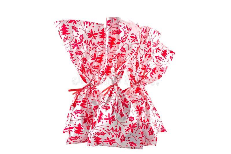圣诞节款待袋子 库存图片