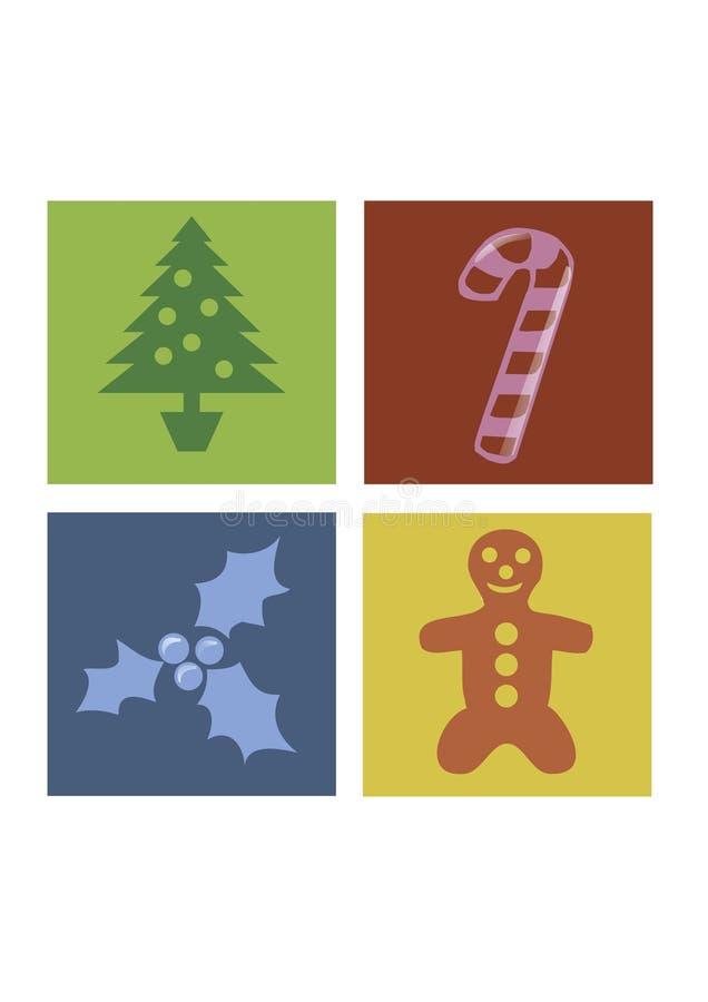圣诞节正方形 库存例证