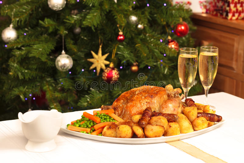 圣诞节正餐 免版税库存照片