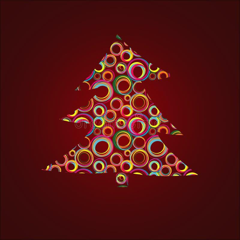 圣诞节毛皮结构树 库存例证