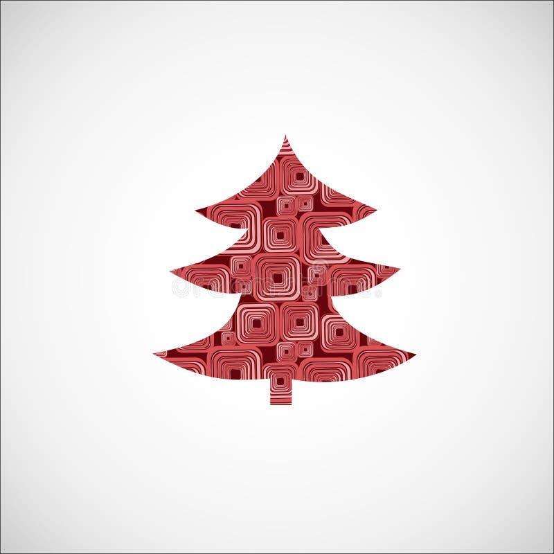 圣诞节毛皮结构树 向量例证