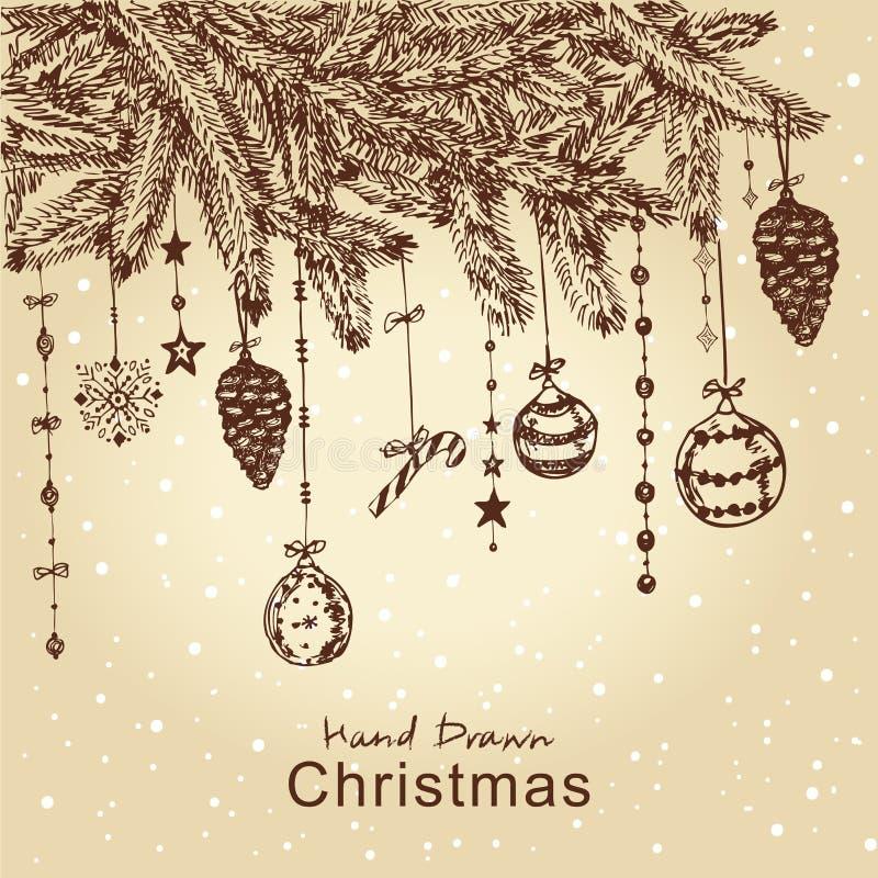 圣诞节毛皮结构树 皇族释放例证
