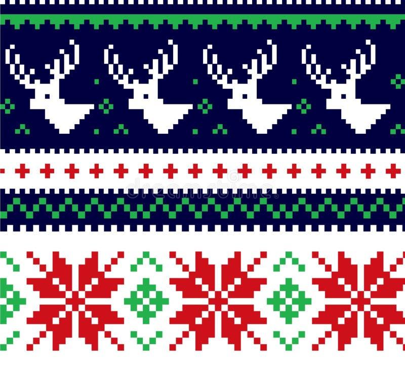 圣诞节毛线衣 免版税库存照片