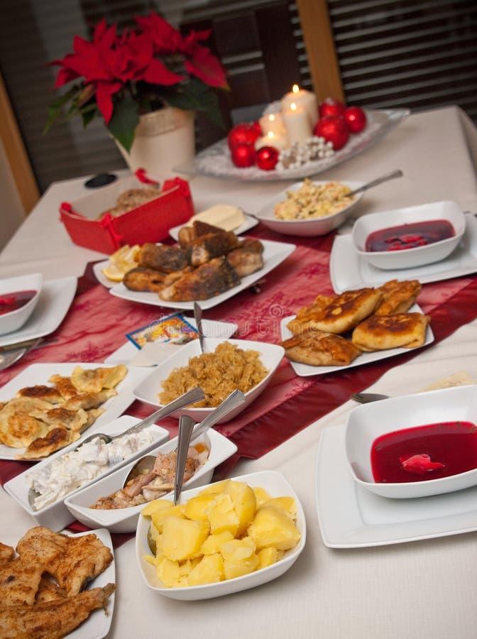圣诞节波兰表 免版税库存照片