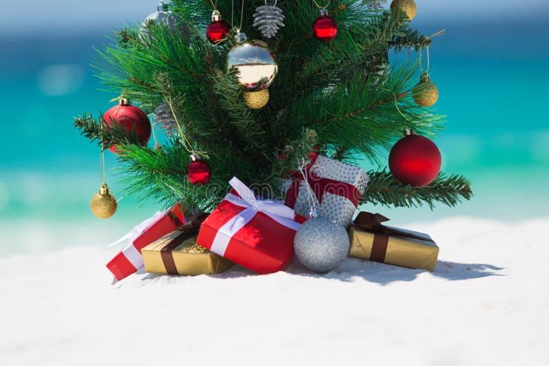 圣诞节海滩假日或假期 库存图片