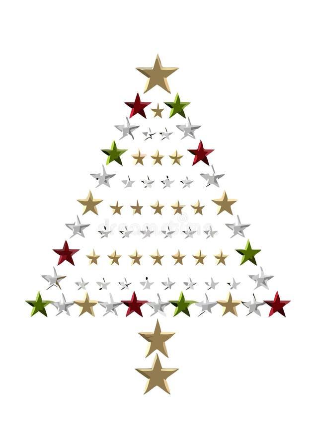 圣诞节满天星斗的结构树 免版税库存图片