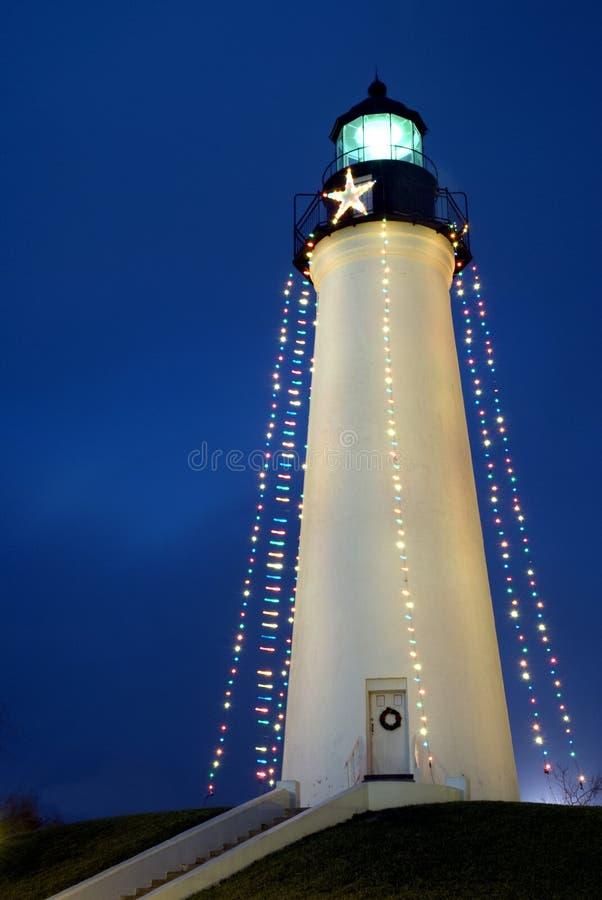 圣诞节灯塔 库存照片