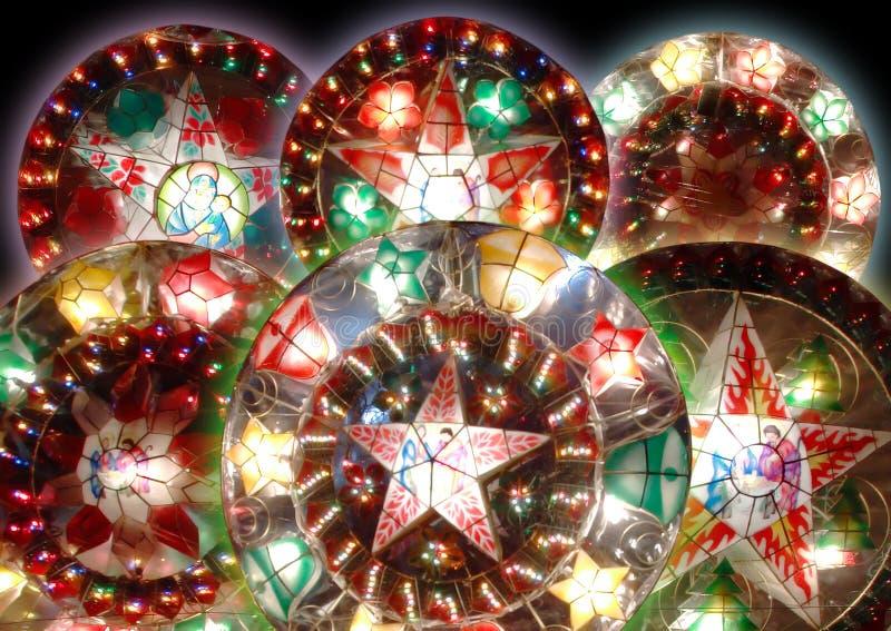 圣诞节灯笼六 库存照片