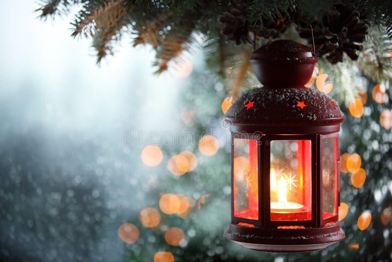 圣诞节灯笼 免版税库存图片