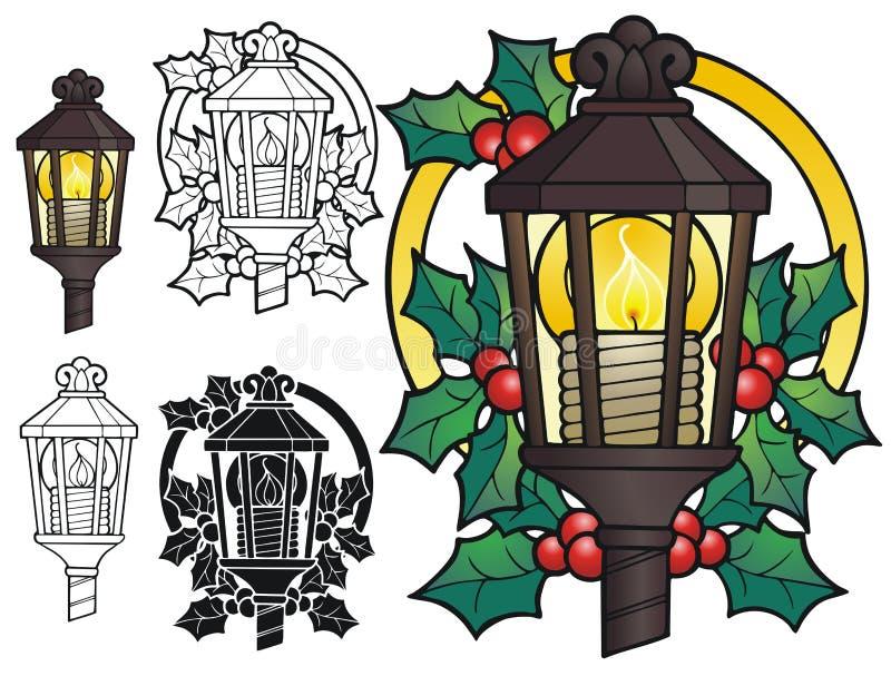 圣诞节灯笼 向量例证