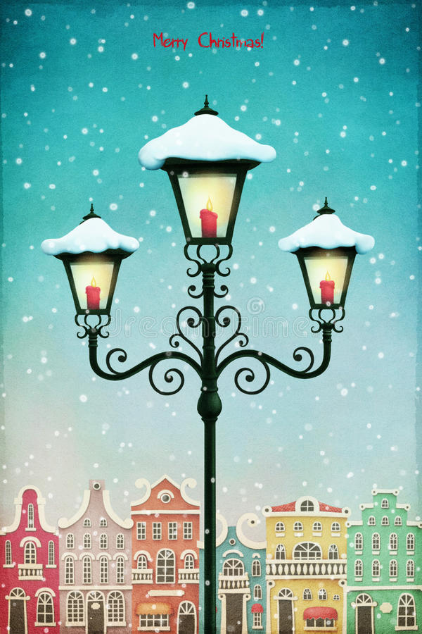 圣诞节灯笼 库存例证