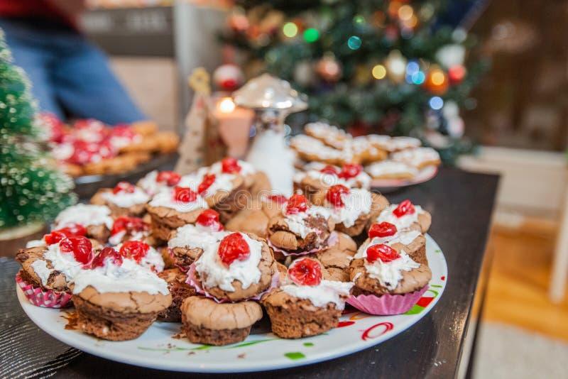 圣诞节点心食物 图库摄影