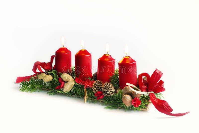 圣诞节烛台 免版税图库摄影