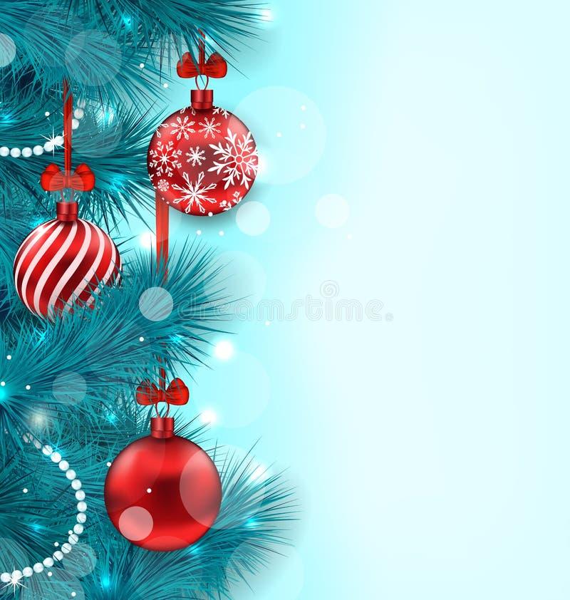 圣诞节照亮背景 库存例证